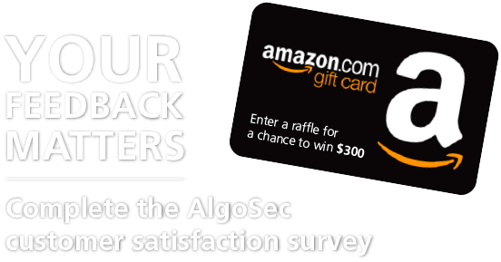 AlgoSec Customer Satisfaction Survey